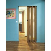 The Eurostar Folding Door - Light Oak - Glass