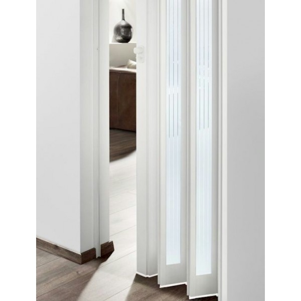 The Eurostar Concertina Folding Door - White - Glass Lines