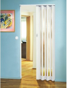 The Eurostar Folding Door - White - Glass