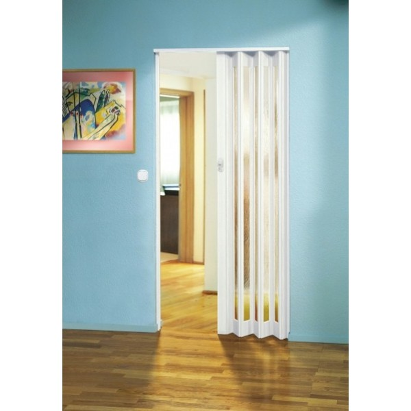 The Eurostar Folding Door - White - Glass  sc 1 th 225 & PVC Plastic Concertina Door | Marley Folding Doors