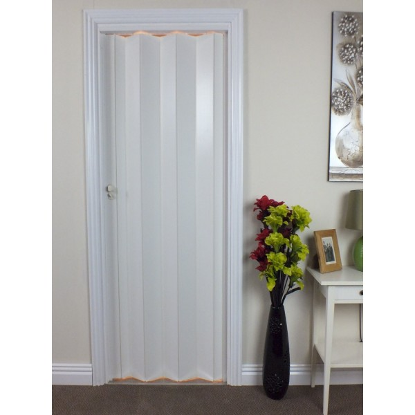 Plain White Door the eurostar concertina folding door - plain white