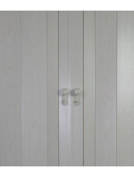 Concertina Folding Double Door -The President - White Ash