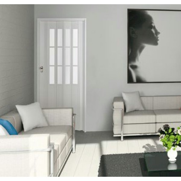 Concertina Folding Door The President From Marley - White Glass