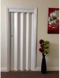 Rapid Internal Folding Door 880mm White & PVC Plastic Concertina Door | Marley Folding Doors