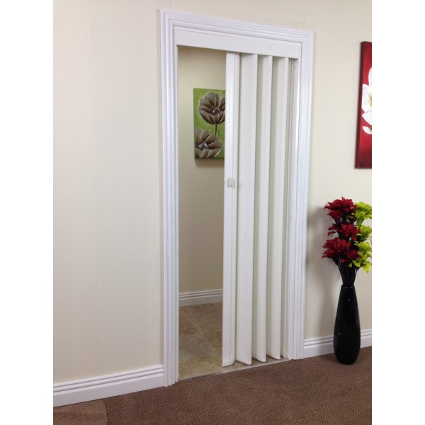 Black Accordion Doors : Rapid internal concertina door mm white