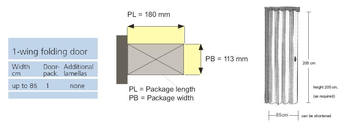 Rapid Folding Door Dimensions